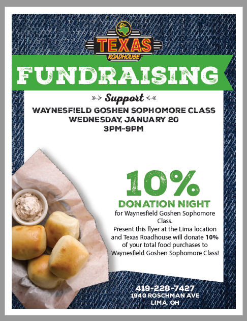 Class  of 2023 Fundraiser - Texas Roadhouse
