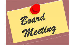 Special Board Meeting & Login Information